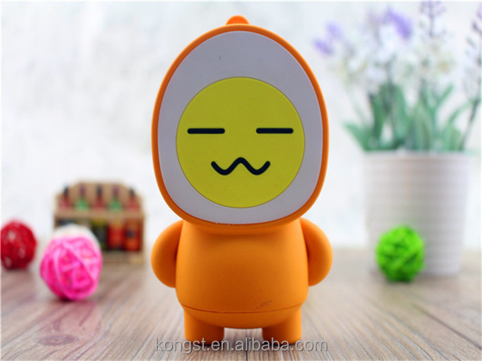 2016 new design cute egg shape cartoon power bank 4400mah for smartphone