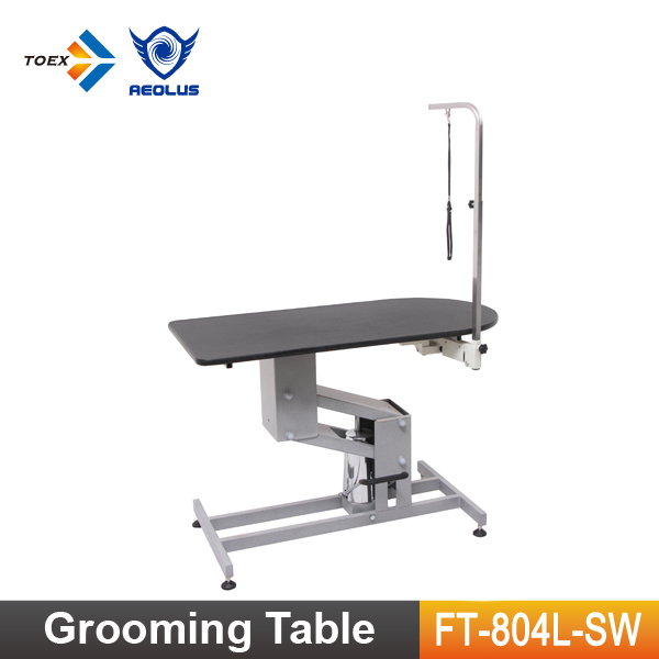 FT-804L-SW Adjustable Hydraulic Dog Table with Swivel Arm Large Grooming Tables