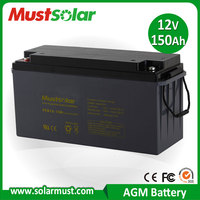 <MUST SOLAR> High quality Electric Power tools 150 AH Deep Cycle Battery, AGM VRLA Battery