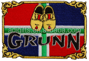 Design your own logo cheap price fashion embroidery patch for clothes