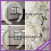 wholesale luxury ivory decorated flower arch for outdoor decoration
