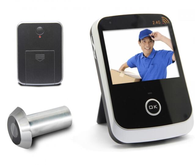 Бесплатная доставка беспроводной глазок видео-телефон двери с монитором и передатчик и аккумулятор при условии ,