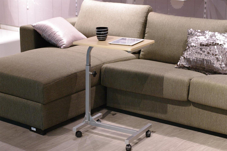 FurnitureR Folding Adjustable Laptop Bed Computer Notebook Table Desk Stand White