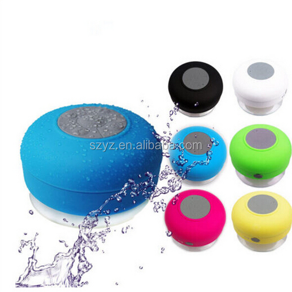 Mini Wireless Silicone Terpasang Portable Nirkabel Shower Speaker Nirkabel Handset
