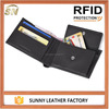New Arrival RFID Wallet Men Genuine Leather Wallet With Coin Purse