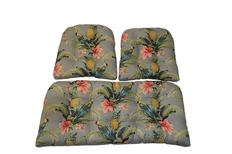 Marvelous Buy 3 Piece Wicker Cushion Set Indoor Outdoor Tommy Spiritservingveterans Wood Chair Design Ideas Spiritservingveteransorg