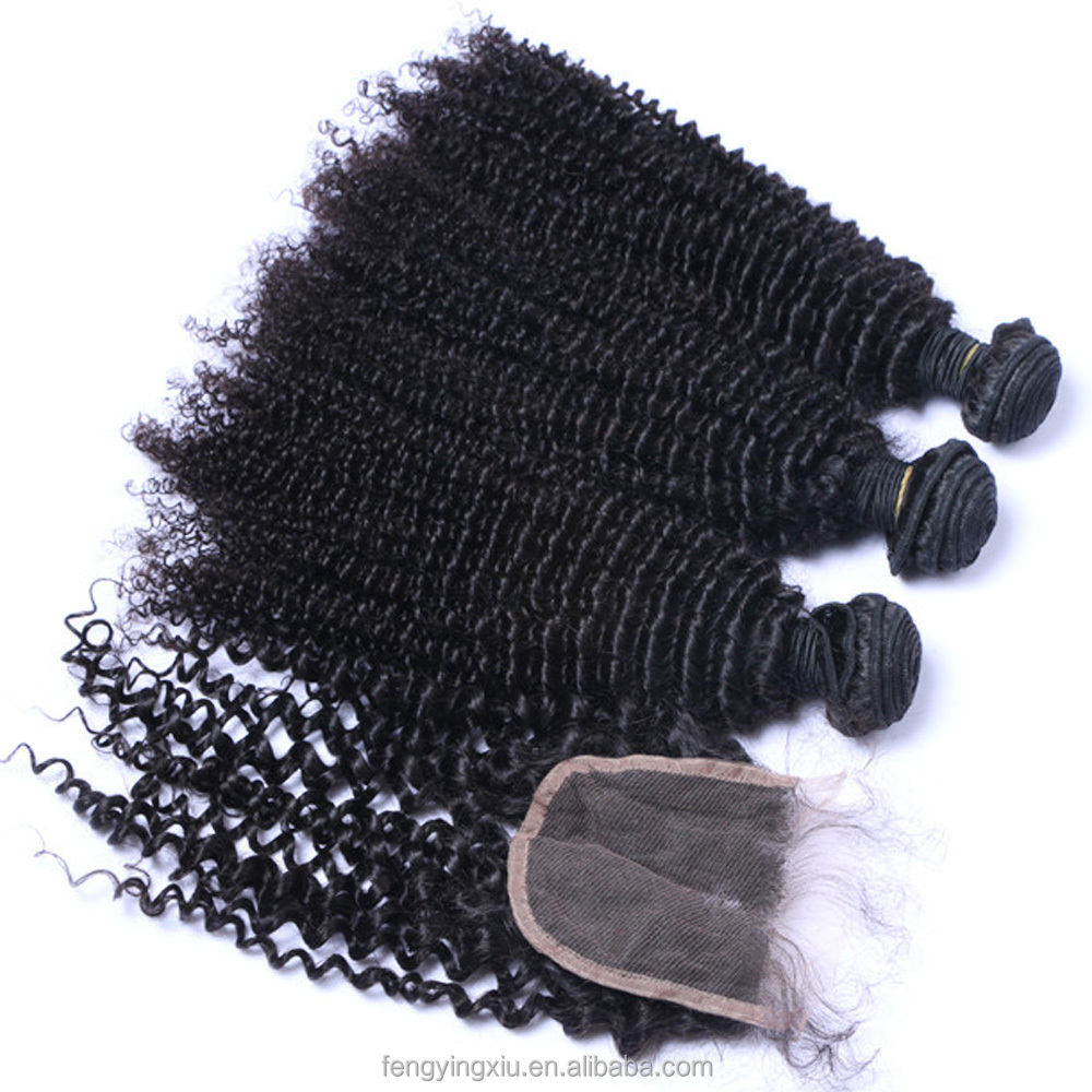 Malaysian afro kinky curly virgin human hair bundles 3pcs with hd swiss lace closure and frontal, N/a