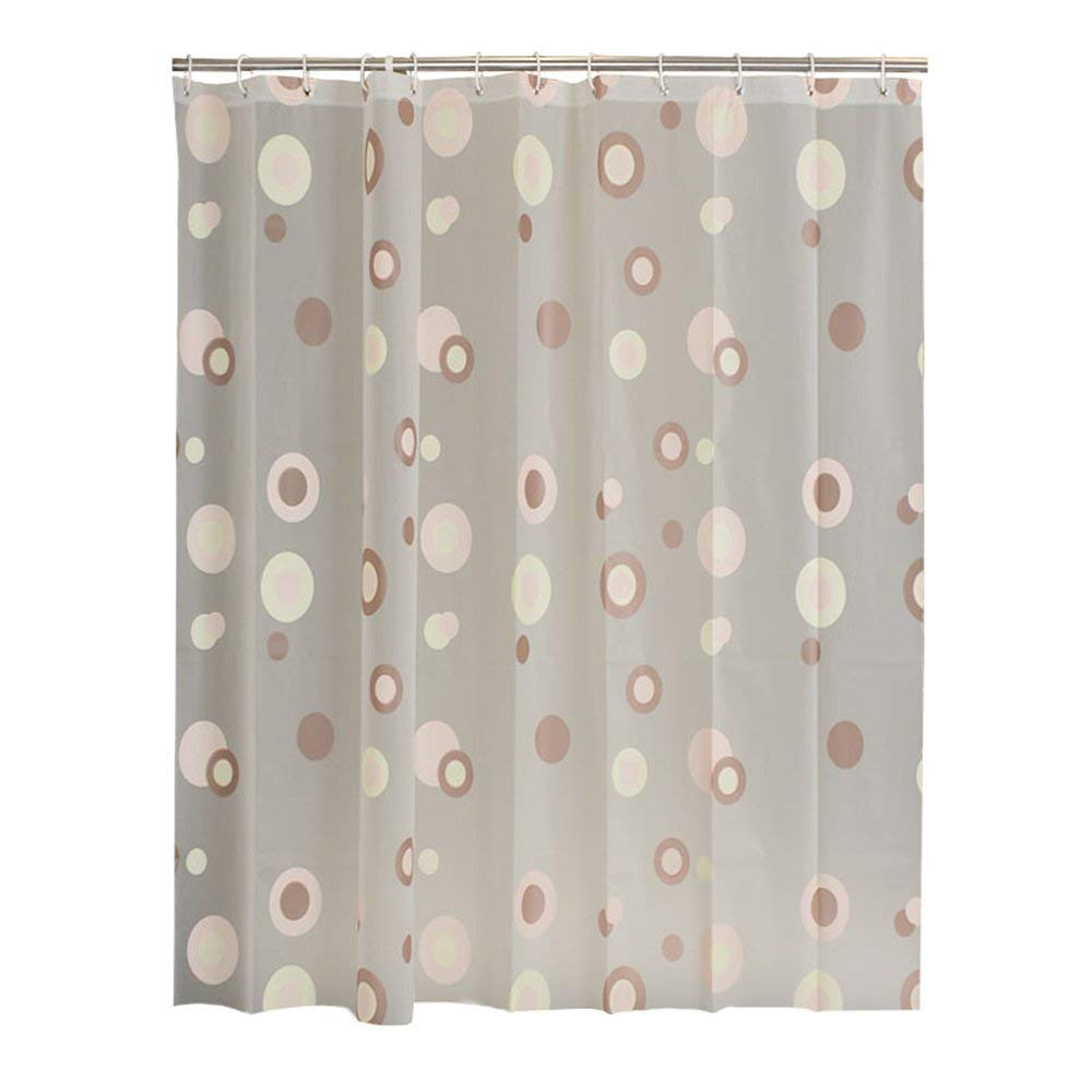 Get Quotations Shower Curtain European Style Waterproof And Mildew Thickening Coffee Ring Shelter