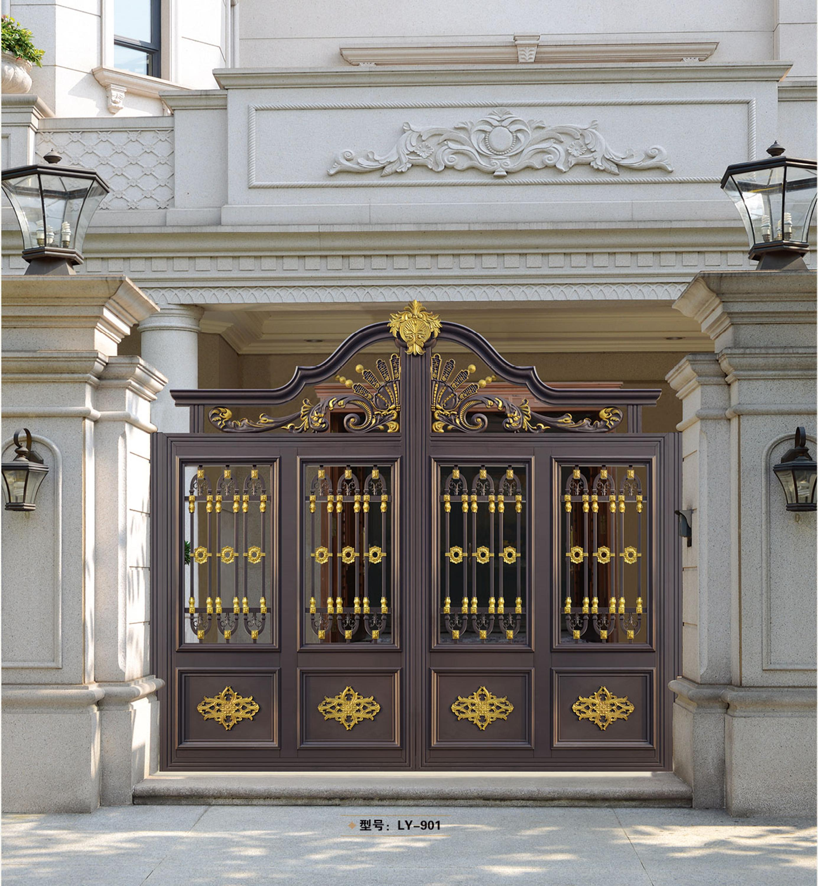 house main gate picture. Latest indian wrought iron house gate designs main LY 902  View
