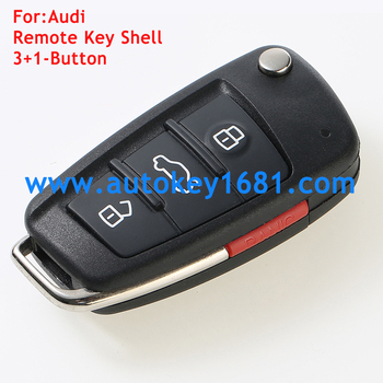 For Audi Flip Remote Key Shell Fob A3 A4 A5 A6 A8 Q5 Q7 Tt S Line Rs  3+1panic Button Remote Key Cover - Buy Audi Flip Key Shell,Audi 3+1button  Remoter