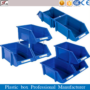 warehouse parts storage system stackable plastic bins