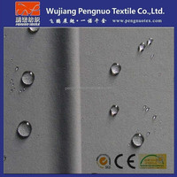 wholesales 190T polyester taffeta waterproof fabric with pvc coated/waterproof raincoat fabric