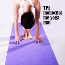 Manufactory private label non-slip Tpe 6mm thickness yoga mat