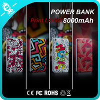 2016 New DIY design phone portable power bank 8000mah powerbank charge
