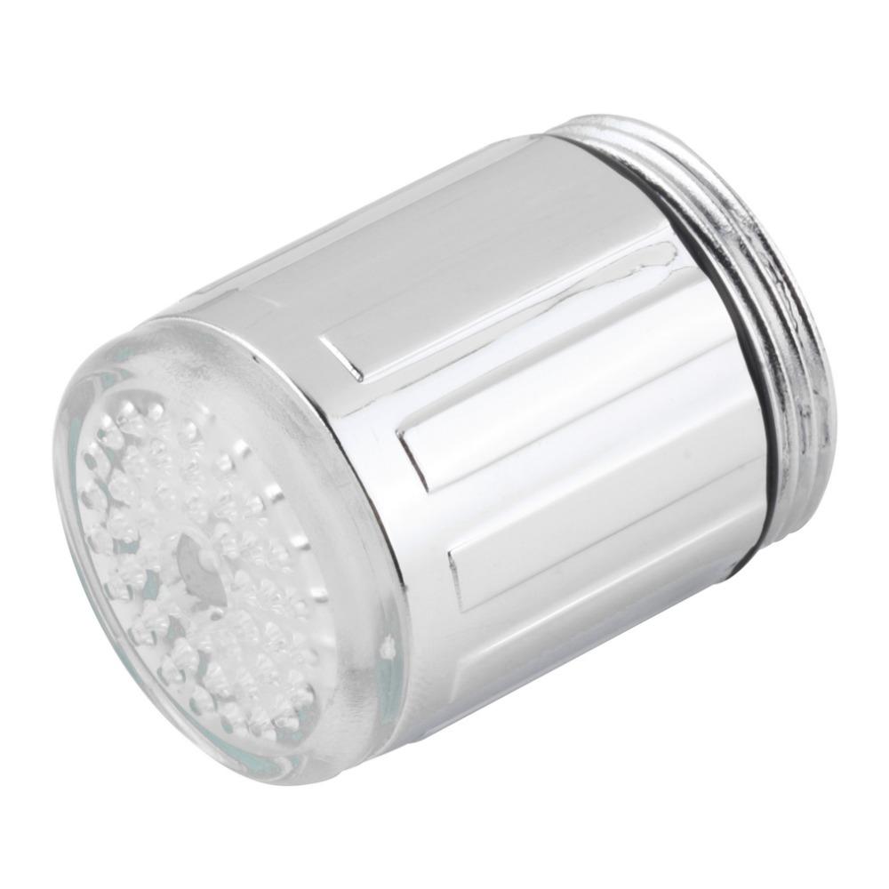 Hot Temperature Sensor Water Faucet Tap Glow Shower Kitchen Bathroom LED Light