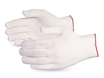 Superior SSL/C13D Dyneema Lightweight Knit Glove with PVC Dots Palm, Work, Cut Resistant, 13 Gauge Thickness, Medium, White (Pack of 1 Pair)