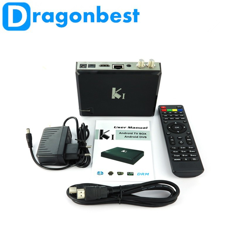 Dragonbest k1 s2 android stb 1080p android tv box kitkat 4.4 Amlogic S805 Quad core K1 DVB S2 2.4G wifi XBMC android 4.4 tv box
