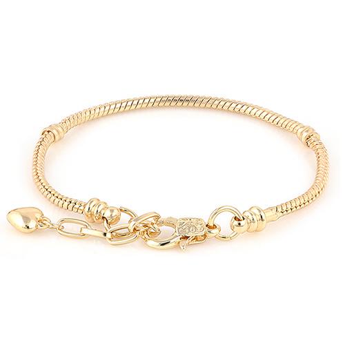 Diy браслеты 18 К золото змея цепи Chamilia , пригодный для пандора браслет безопасности день святого валентина подарок для мужчины женщины большая дыра бусины