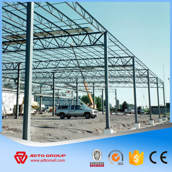 Light Steel Frame Structure Sandwich Panel Prefabricated Supplying  Structural Warehouse Parking Garage With Drawing Design