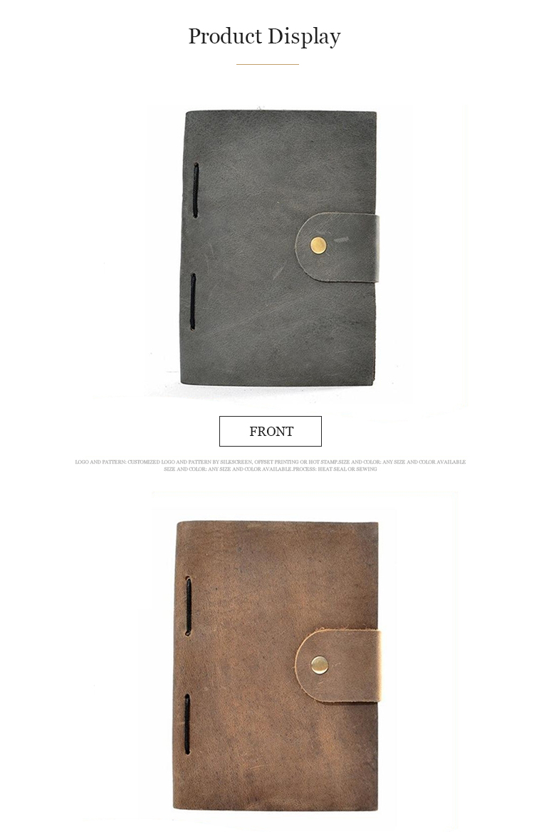 Wholesale blank vintage journals handmade genuine leather notebook journal with high quality