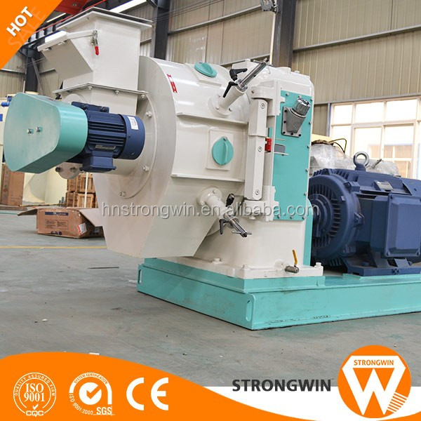 Henan Strongwin ce approved ring die sawdust biomass bagasse pellet making machine
