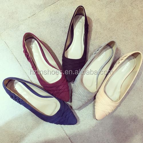 0d919124b Tamaño 35-42 2016 pies en punta plana zapatos casuales pequeño talón  ocultado los planos