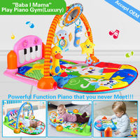 HX9106 4 games in 3 modes,12 in 1 powerful function activity mat for baby
