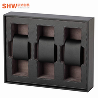 Factory price luxury watch packaging suppliers custom watch storage box 3 slots with foam insert gift wrap box