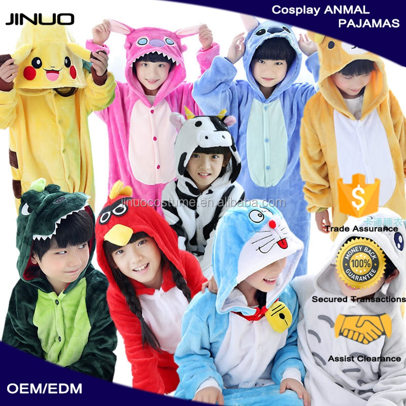wholesale checkout kids unisex overall animal onesie pajamas with hood