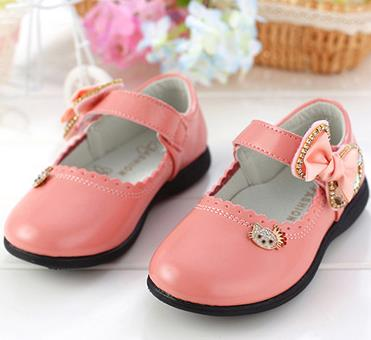 ad3a11df06027 Girl genuine leather shoes spring brand loafers female children s princess  cartoon flat shoes chaussure pour