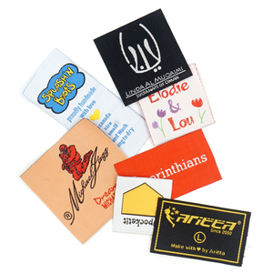 Manufacturer various of custom damask woven private labels for clothing