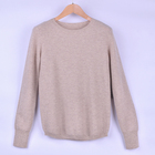 100% Cashmere long sleeve Round collar knitted women elegant wear sweater pullover
