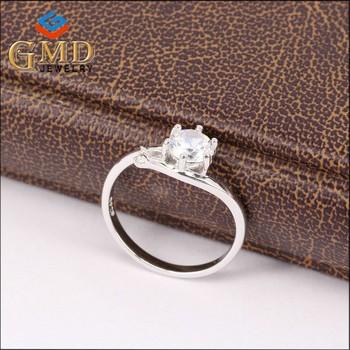 Birthday Gifts For Girlfriend Fashionable Jewelry Beautiful Women Silver 925 Diamond Fang Ring