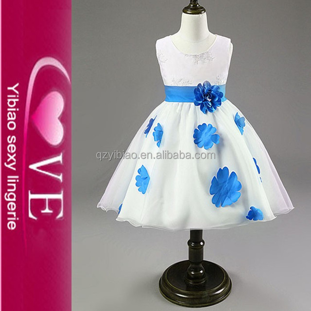 Custom Make And Wholesale Kids Flower Skirts Gift Lovely Little Girls Princess Style Evening Dress