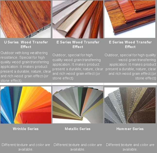 Wood Transfer Powder Coating Aluminium Wood Powder Paint