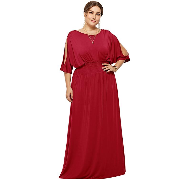 357c7e529428cd9 ... вечернее платье. 0 заказов. Feelingirl высокое качество красный плюс  размеры рукав «летучая мышь» с открытыми плечами Элегантный шифон