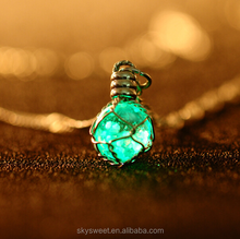 crystal ball chain necklace skysweet, lamp bulb pendant necklace party lighting(SWTJU1930)