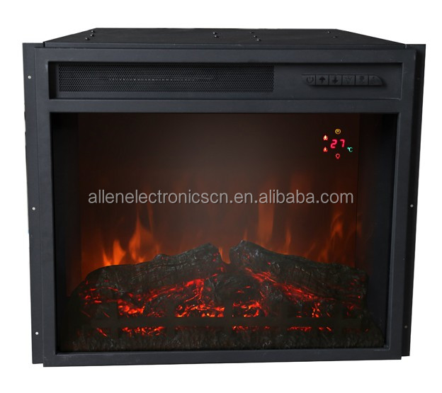 Western Electric Fireplace Insert Firebox with Remote Control 750/1500W 1000/2000W Black