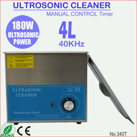 180W 4L Stainless Steel Portable Ultrasonic CD DVD Cleaner with Basket 340T