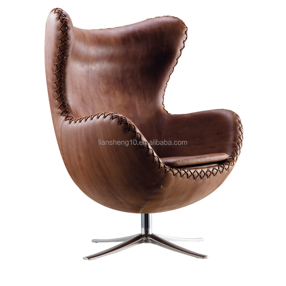 Canada Style Hanging Egg Chair Leather Egg Chair Replica