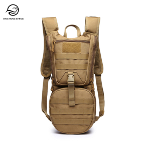 Nylon Outdoor Water Bottle Pouch Hydration Backpack Military 2L Camping Water Bag with Molle System