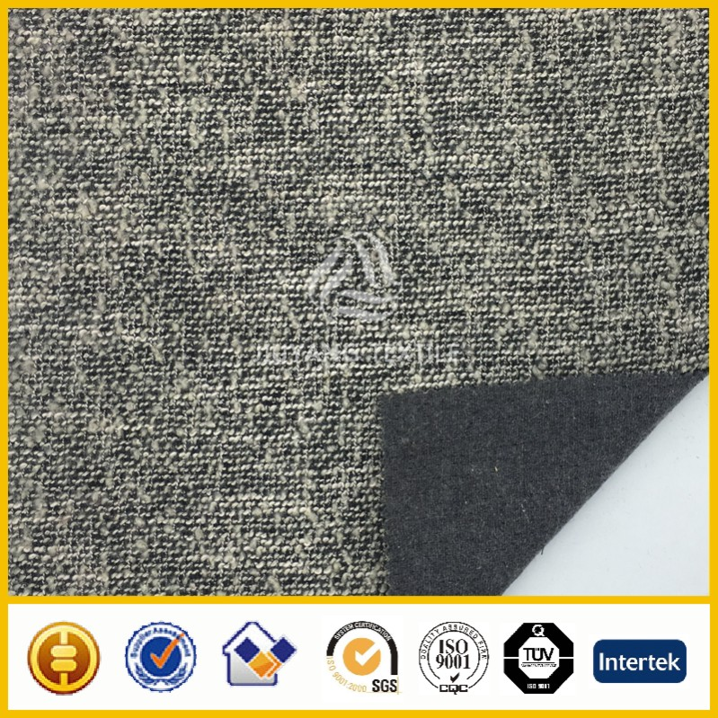 2016 Hiqh quality double faced wool tweed fabric for coats