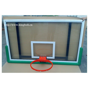 Good Quality Aluminium Frame And Steel Frame PU Padding Tempered Glass Basketball Backboard
