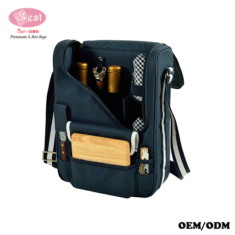 Cooler Bag Equipped Custom Wine Storage Bags Picnic Bags