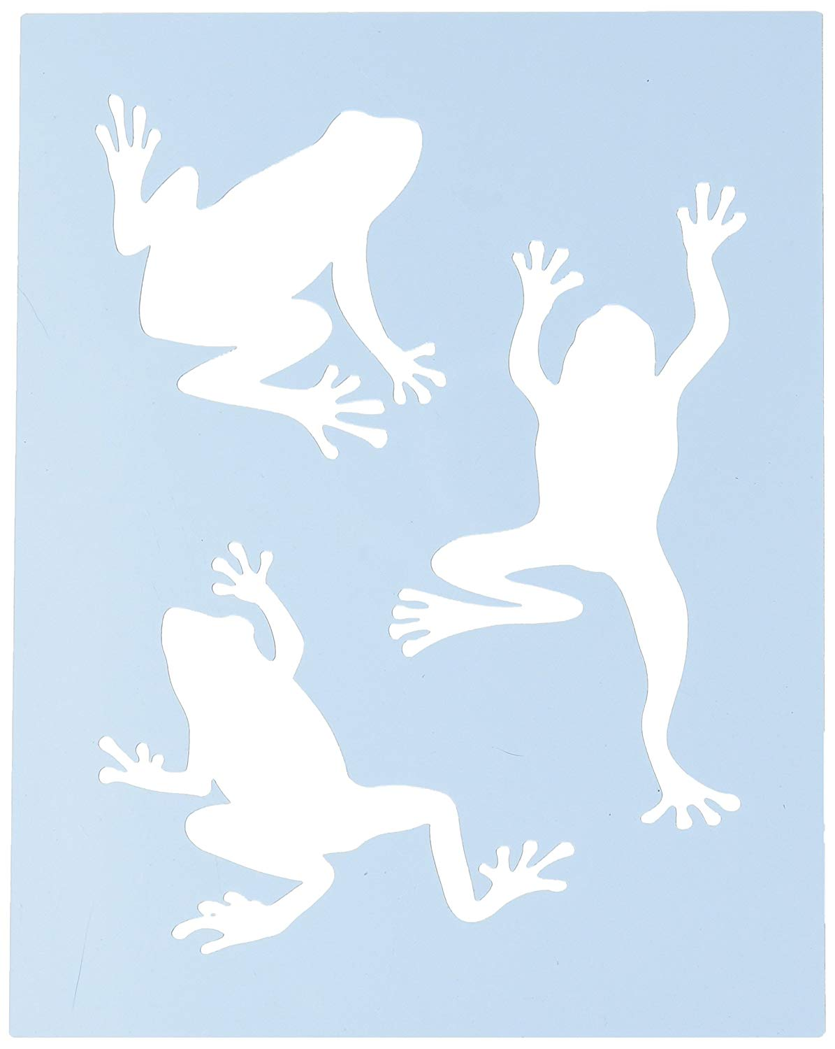 Faux Like a Pro Baby Hand and Foot Prints Stencil Single Overlay 5.5 by 7-Inch