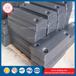 UHMWPE custom fender panel block for dock protection against boat rubbing