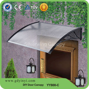 Polycarbonate plastic canopy for patio door rain cover sun shelter