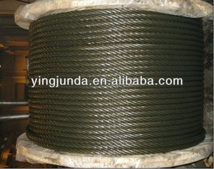 16MM Steel Wire Rope Ungalvanized Used Steel Wire Rope for Crane 1370/1770 Mpa double tensile strength price factory