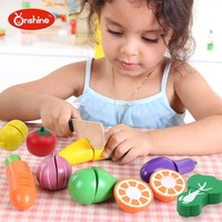 children toys new 2016 style Vegetables and Fresh Fruit Wooden Cutting Toy