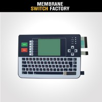 hot sale silk printing waterproof membrane keypad numbers keyboard